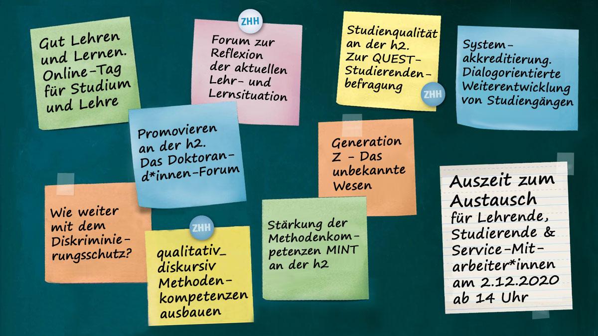 Themen und Foren am Tag für Studium und Lehre 2020